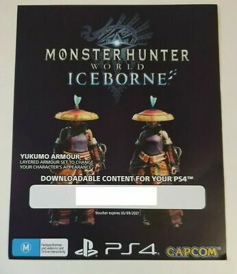 AU5 • Buy Monster Hunter Iceborne - Pre Order Bonus Yukumo Armour - PS4 DLC