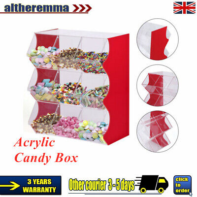 UK Stacking Pick And Mix Dispenser Wedding Acrylic Sweet Display Stand Candy Box • 155£
