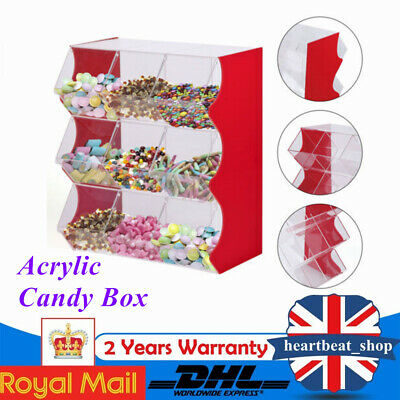 Stacking Pick & Mix Dispenser Wedding Sweet Display Stand Candy Box Acrylic  • 164£