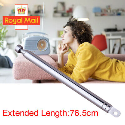 7 Section 10-55cm Telescopic Aerial Antenna For TV Radio DAB AM/FM Replacement W • 4.06£