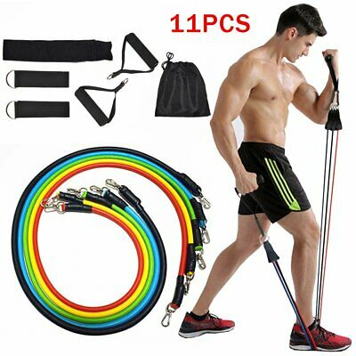$ CDN19.82 • Buy 6/ 11 PCS Resistance Bands Set Home Gym Exercise Fitness Tube Bands Training