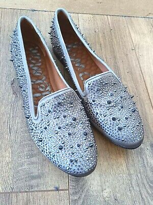 £49.99 • Buy Sam Edelman Slip On Studded Spiked Flats Ballet Shoes Leather Soles UK 6.5 NEW!