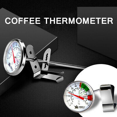 $7.65 • Buy Coffee Milk Froth Thermometer Probe Clip Latte Cappuccino 304 Stainless Steel