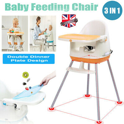 Adjustable 3in1 High Chair Protable Baby Highchair Child Feeding Seat - 2 Colour • 29.99£