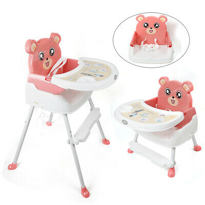 4-in-1 Adjustable Height High Chairs Baby Feeding Seat Toddler Chair With Tray • 25.40£