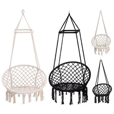 Soft Hanging Hammock Rope Swing Chair Outdoor Indoor Garden Hammock Seat/Stand • 159.54£