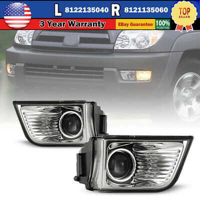 $36.13 • Buy For 03-05 Toyota 4Runner Fog Lights Clear Lamp Projector Bulbs Replacement Pair