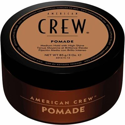 £11.19 • Buy American Crew Hair Pomade For Men Medium Hold With High Shine Styling 85 G