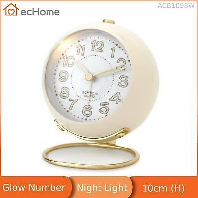 AU19.73 • Buy EcHome Mechanical Analogue Alarm Clock Glow Number Night Light White ACB1098W