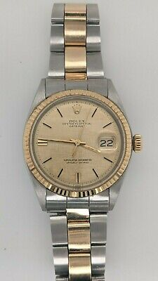 $ CDN6089.76 • Buy Rolex Datejust 1601 Stainless Steel & 14K Gold Automatic Watch - 36mm
