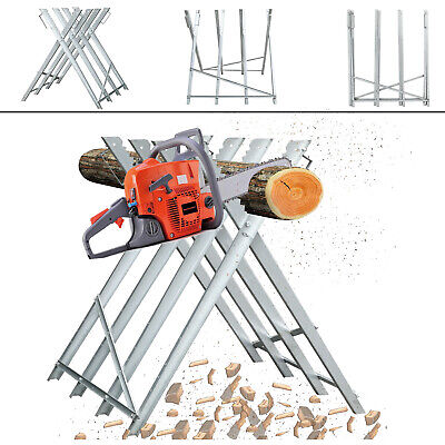 Sawhorse Log Heavy Duty Sawhorse Cutting Garden Log Saw Horse Foldable Aid Tool • 28.99£