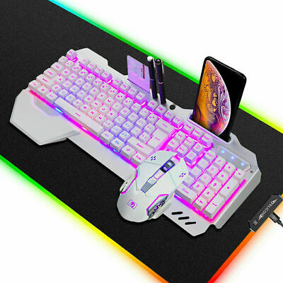 AU65.79 • Buy Wired RGB LED Backlit Gaming Keyboard Mouse And RGB Mousepad Combo For PS4 PS5