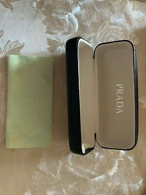 Black Prada Sunglasses Glasses Protective Case With Free Cleaning Cloth FREE P&P • 19.98£
