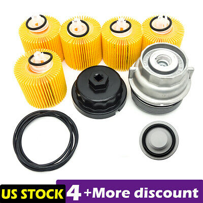 $37.99 • Buy Fit For Toyota Oil Filter 04152-YZZA1 + Housing Cap + Plug Drain+Wrench 5.7L