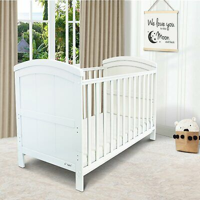 £129.95 • Buy ISafe Baby Cot Bed Toddler Bed Junior CotBed Liam (White) (Including Mattress)