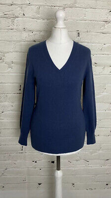 N PEAL 100% Cashmere Ladies V Neck Jumper XS 8 UK Great Condition £289 New • 34£