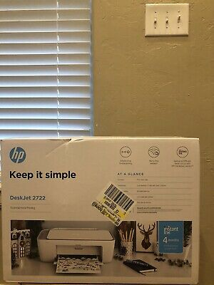 View Details NEW HP DeskJet 2722 All-in-One Wireless Color Inkjet Printer FREE INK FAST SHIP! • 59.98$