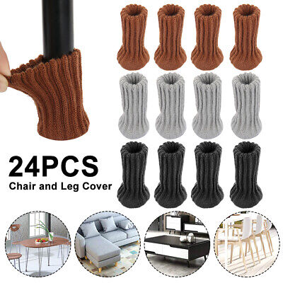 AU15.99 • Buy 24x Knitted Table Chair Leg Socks Sleeve Floor Protector Furniture Feet Covers