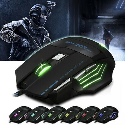 AU13.69 • Buy AU 7200DPI LED Wired Optical Backlight Gaming Mouse FOR Win PC Laptop 7 Button
