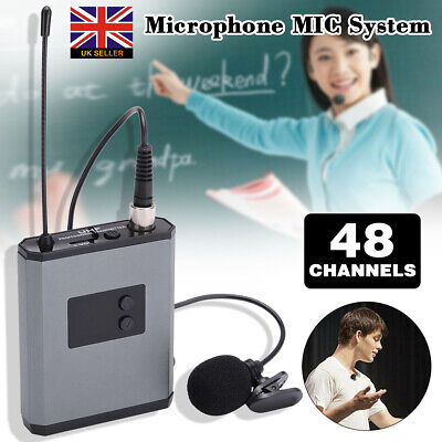 Headset Receiver Transmitter UHF Wireless Lavalier Lapel Microphone MIC System • 25.99£