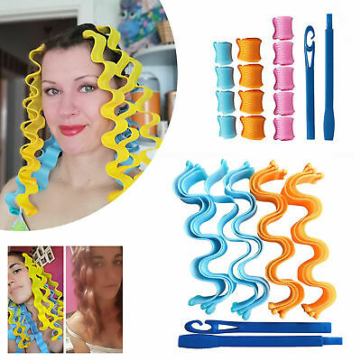 30cm 12pcs/set Magic Hair Curlers Spiral Roller Curling Styling Tool Kit No Heat • 6.19£