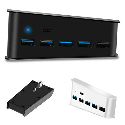 AU21.37 • Buy For PS5 PS4 Pro Console 5-Ports Extend USB Hub Adapter High Speed Splitter AU