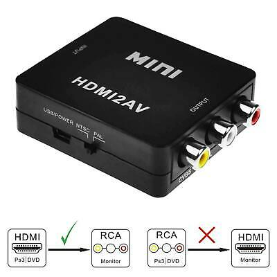 RCA To HDMI Converter Composite AV CVBS Video Adapter 1080p For Wii NES SNES VHS • 5.09£