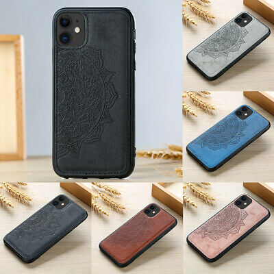 PU Leather Shockproof Slim Embossed Flower Case Cover For IPhone 11 12 XS XR 8 7 • 5.29£