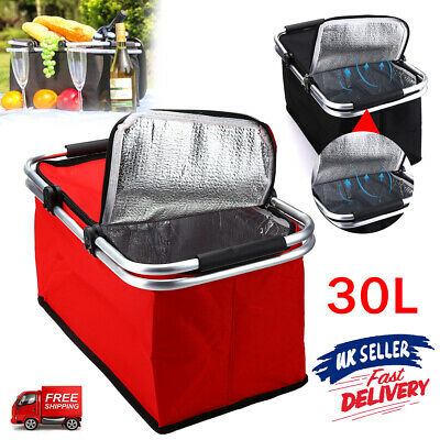 £10.29 • Buy 30L Extra Large Insulated Cooler Cool Bag Box Picnic Camping Food Drink Ice UK