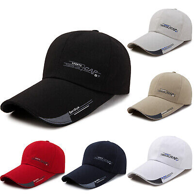 Men Women Snapback Baseball Caps Sunhat Long Brim Sun Hat Peaked Sport Golf Hats • 7.49£