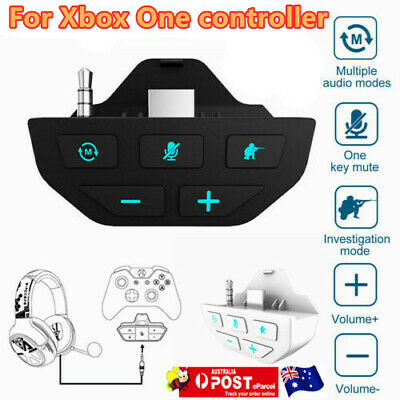 AU34.55 • Buy Headset Adapter Audio Mic Headphone Converter For Microsoft Xbox One Controller/