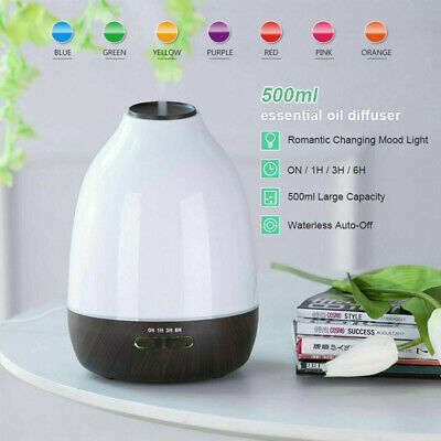 AU27.54 • Buy 500ML Large Led Essential Oil Aromatherapy Purifier Diffuser Air Humidifier Home