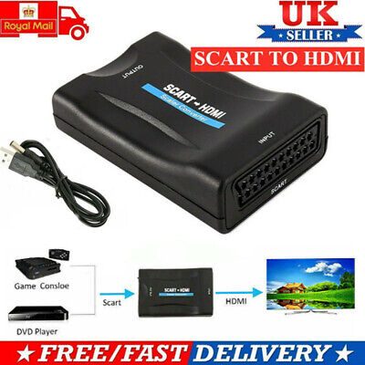 £6.96 • Buy 1080P HDMI To SCART Composite Video Converter Audio Adapter For DVD SKY BOX