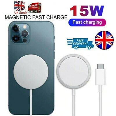 15W Magnetic Fast Charging Charger Pad For IPhone12 Pro Max 12 Mini UK BEAD Hot • 6.98£