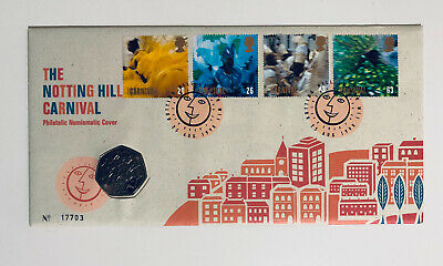 1998 European Union EEC 50p Fifty Pence Coin BU FDC PNC Stamp Cover Royal Mint • 14.80£