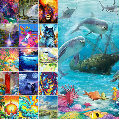 AU17.59 • Buy 5D Diamond Painting Full Drill Dolphin Pattern By Number Art Kits Home Decor