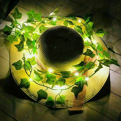 2M LED Leaves Ivy Leaf Garland Fairy String Lights Xmas Party Garden Decor Lamps • 3.99£