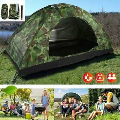 AU45.99 • Buy Camping Outdoor Tent Waterproof UV Protection Camouflage Tent Hiking 1-4 Persons