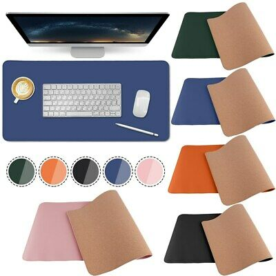£17.99 • Buy Dual Side Office Desk Pad Leather Mouse Pad Laptop Desk Protector Mat Waterproof