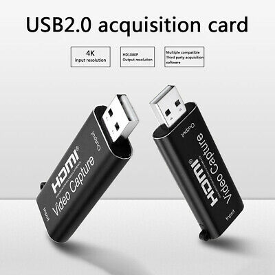 Portable USB 2.0 HDMI Capture Card Camera Live Streaming Video Recording Box • 14.62£