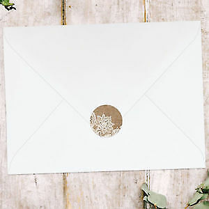 Rustic Lace Pattern - Wedding Envelope Seals - Pack Of 70 • 3.99£