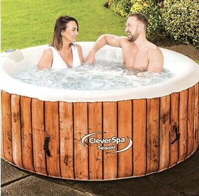 CLEVER SPA Sequoia Inflatable 4-6 Person Hot Tub Pool • 599.99£