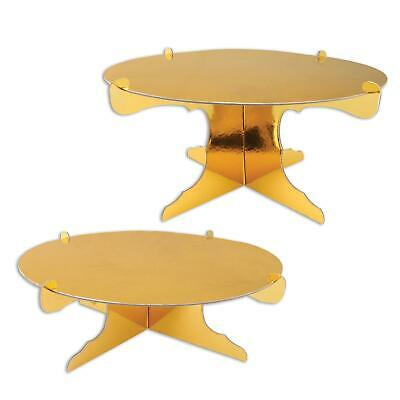 £10.99 • Buy 2 X GOLD FOILED CARD 31.75CM CAKE STANDS GENERAL OCCASION TABLEWARE