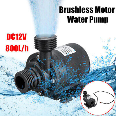 12V Brushless Water Pumps 1/2in Male Thread Submersible Pump For Pond Aquarium • 15.46£