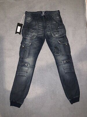 PRPS Goods & Co Distressed Bruised Not Broken Cargo Jeans Tagged Size 32 • 108.53£