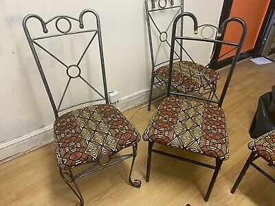 £10 • Buy African Print Refurbished 6 Chair For Only £ 10  Need Space