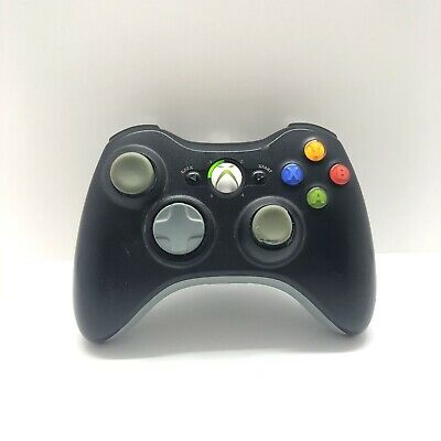 AU37 • Buy Black Xbox 360 Controller Genuine Microsoft Tested Free Postage Aus Seller