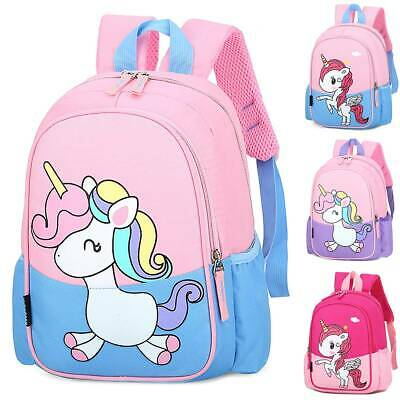 AU27.09 • Buy Kids Girls Unicorn Printed Backpack Rucksack School Bags Lovely Kindergarten Bag