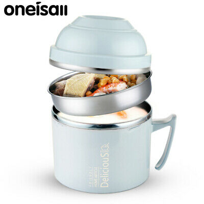 AU26.81 • Buy Thermos Food Jar Noodle Container Thermal Insulation Lunch Box Stainless Steel
