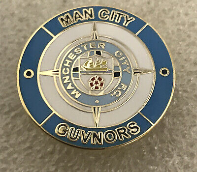 Very Rare Manchester City Supporter Enamel Badge - Guvnors Hooligan Firm • 4.99£